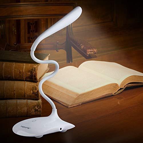 Bureau-leeslamp zaklamp, draagbare flexibele oogvriendelijke hals, led-licht afmetingen: L 8 x B 4,9 x H 4,1 inch