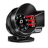 追加メーター ACECAR ヘッドアップディスプレイ OBD2 GPS デュアルブート 多機能HUD ECUデータ 異常コードクリア・読み取る 故障診断 吸気圧 タービン圧 スピード超過警報など F8PLUS