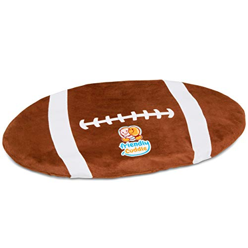 FRIENDLY CUDDLE Football Weighted Lap Pad for Kids 5 lbs. - Sensory Weighted Stuffed Lap Blanket for Toddlers Kids Adults with Sensory Processing Disorder - Perfect for Classroom Travel Home Office