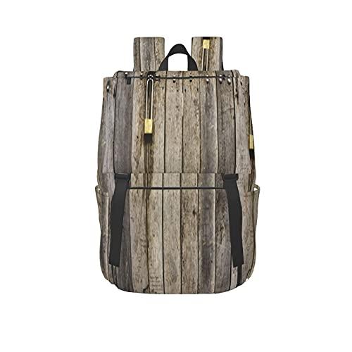 MTSKE Outdoor Freizeit Sport Gym Rucksack mit großer Kapazität,Geschlossener brauner alter Holzzaun,Unisex Schultasche für Business,Schule,Arbeit,Reise oder Laptop