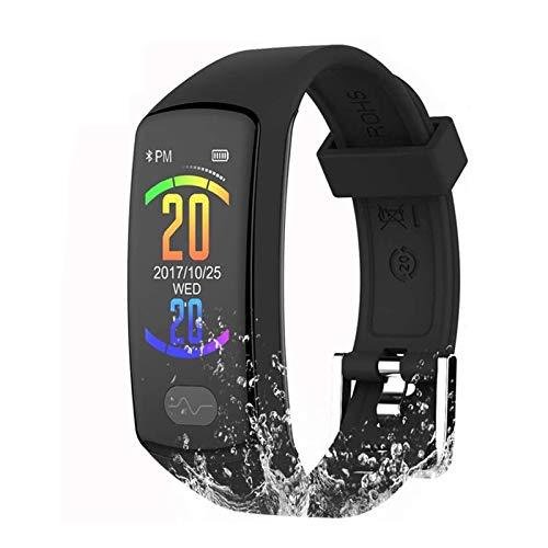 Cestbon Reloj de Pulsera, perseguidor de la Aptitud 0,96 electrocardiograma PPG, podómetro, SMS calorías,Negro