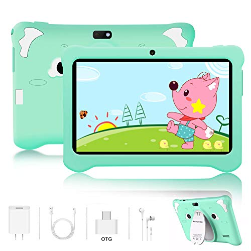Tablet para Niños Android 9.0 Pie 3GB RAM y 32GB ROM 7 Pulgadas Pantalla Tableta Infantil WiFi Bluetooth Dual Camera 5+2MP Entertainment Education(Google Play)