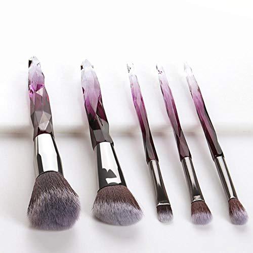 JKL® Maquillage Brosses Set Fondation Surligneur Poudre Blush Fard À Paupières Brosse Professionnel Maquillage Brosse Kit Outil, Blanc Brun