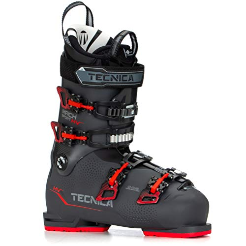 Tecnica Men's Mach Sport HV High Volume 100 All-Mountain Ski Boots, Graphite, 27.5