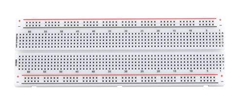 BB830 Solderless Plug-in BreadBoard, 830 tie-Points, 4 Power Rails, 6.5 x 2.2 x 0.3in (165 x 55 x 9mm)