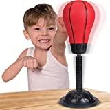 Liberty Imports Kids Desktop Punching Bag with Stand - Speed Boxing Training PU Foam Ball Stress Relief Exercise Toy