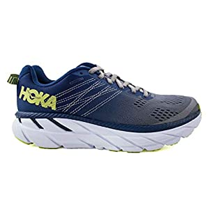 Hoka ONE ONE Women's Clifton 6 Running Shoe (9.5 Medium, Ensign Blue/Wild Dove)