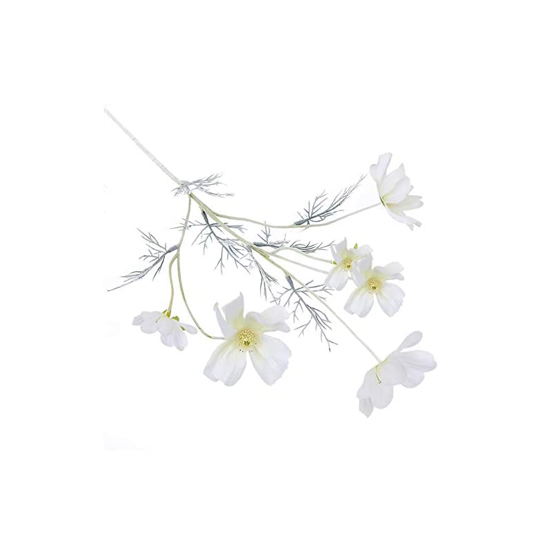 silk flower arrangements akomatial artificial coreopsis cloth flower fake simulation flowers cosmos table centerpiece home party decor milky white