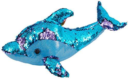 Giftworks Plüschtier Delfin mit Pailletten, 37 cm