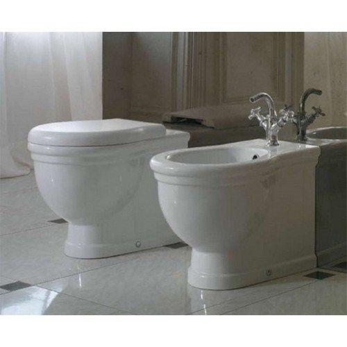 Sanitari Classici Filoparete Ceramica Globo Paestum WC + BIDET + SEDILE