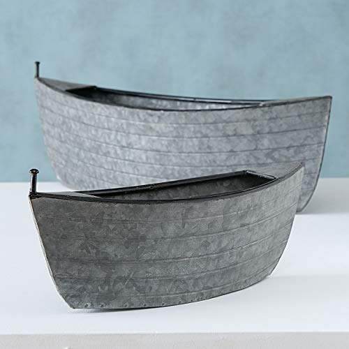 Seaside No.64 - Barco de cinc – Maceta – Jardín – Maceta – Maceta – Maceta de zinc barco 2 tamaños (grande)