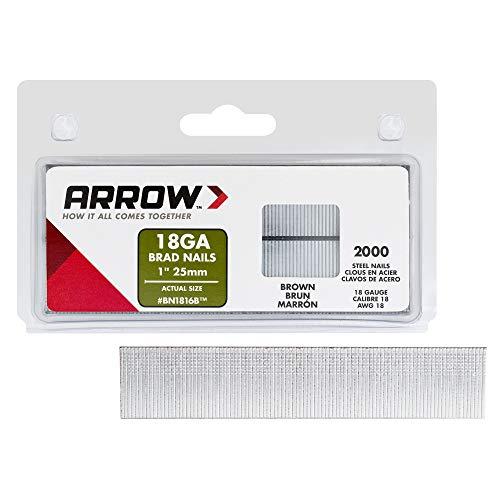 Arrow 0160825 Boîte de 2000 pointes à tete BN18, Gris