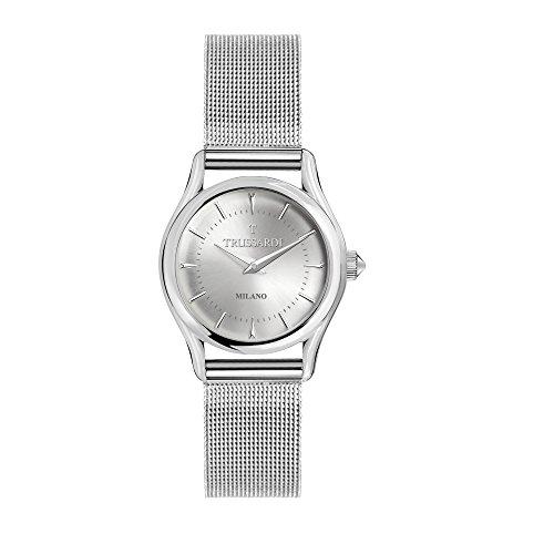 TRUSSARDI Damen Analog Quarz Uhr mit Edelstahl Armband R2453127505