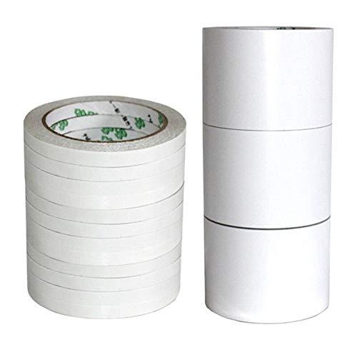 Preisvergleich Produktbild YUANYUAN520 Klebeband 12M Doppelseitiges Klebeband Superschlankes Klebeband Mit Starker Haftung Weißes,  Kraftvolles Doppelklebeband for Schulsachen PVC (Color : White,  Size : 12M)