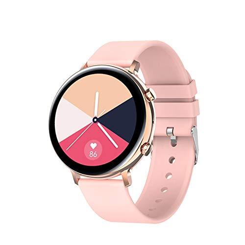 Intelligente Uhr mit Bluetooth-Anruf 2021 Neue Herren-Frauen-Smartwatch-Blutdruckmonitor So-Samsung-Apfel,Monsteramy (Color : Champagne)