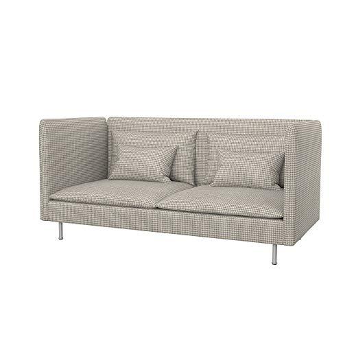 Soferia Funda de Repuesto para IKEA SÖDERHAMN sofá de 3 plazas, Espalda Alta, Tela Stewart Beige Pattern, Beige