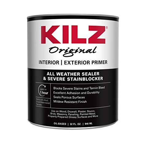 KILZ 10084 Original Oil-Based Interior and Exterior Primer, 1 Quart