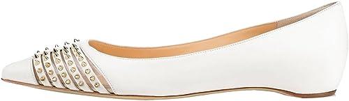 Calaier Femme Cahorse 1CM Plat Glisser Sur Ballerines Chaussures