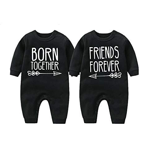 culbutomind Beste Freunde Für Immer Fun Baby-Strampler Baby Geschenke Geburt Erstausstattung(black1 4-6 Months)