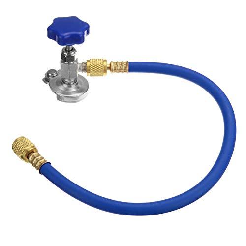 NICOLIE Acier Caoutchouc R12 R22 Tap Tapper réfrigérant Recharge Tuyau Kit 1/4 SAE Thread-Bleu