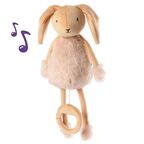 Les Doux Bidous - Caja de música de peluche con diseño de conejo