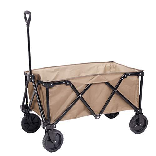 ABOOFAN Carro plegable plegable para uso general, picnic, camping, comestibles, carrito