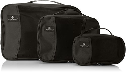 Eagle Creek Pack-It Cube Set Packing Organizer, Black, Set of 3