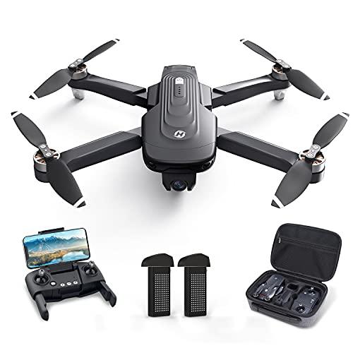 Holy Stone ドローン 4Kカメラ付き GPS搭載 ブラシレスモーター 折り畳み式 バッテリー2個 フライト時間46分 110°広角カメラ 収納ケース付き リターンモード フォローミーモード オプティカルフロー 高度維持 ウェィポイントモード 2.4GHz モード1/2自由転換 国内認証済み HS175D