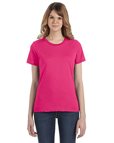 Anvil Women's Ringspun Cotton T-Shirt Hot Pink