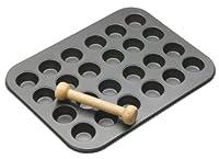 kitchen craft stampo per crostatine con mini matterello, acciaio, grigio