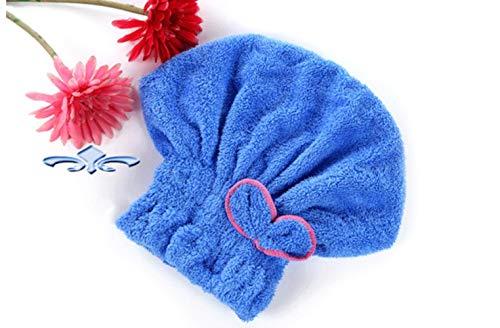 Xmj Bunte Duschhaube gewickelt Handtuch Duschhaube Badanhänger, blau