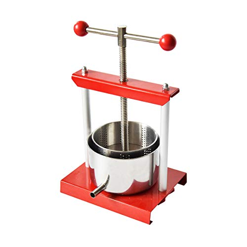 0.8 Gal Fruit Wine Press - 100% Natural Juice Making for Apple/Carrot/Orange/Berry/Vegetables,Stainless Steel Cheese&Tincture&Herbal Press