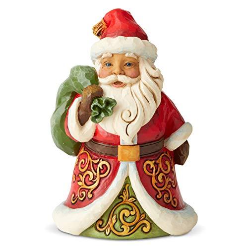 Jim Shore Heartwood Creek Minuscolo Babbo Natale con Sacco sulla Spalla, 13 cm
