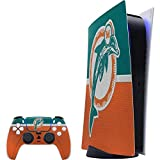 Skinit Decal Gaming Skin Compatible with PS5 Digital Edition Console + Controller - Officially Licensed NFL Miami Dolphins Vintage Design