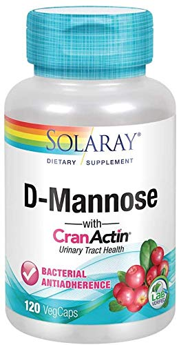 D-Mannose with CranActin Solaray 120 VCaps, Pack of 2