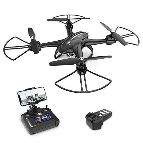 Holy Stone HS200D Drohne mit Kamera HD, RC Quadrocopter, Helikopter Ferngesteuert mit FOV FPV 720P Kamera, Live-Video, APP Steuerung, Modularer Baterie, RC Drohne Ourdoor für Kinder und Erwachsene