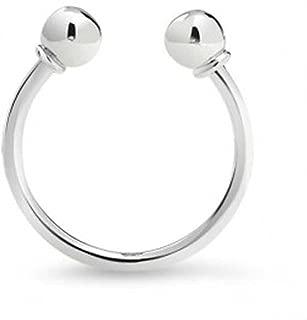 Horseshoe Type Key Chain Key Ring Holder For Men For Women Graduation Polished Twist Ball 925 Sterling Silver