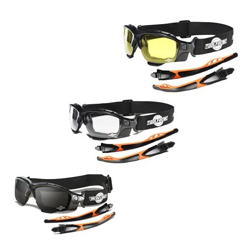 ToolFreak Spoggles Gafas de Seguridad de Trabajo y Deporte, Cristales Tintados Amarillos,...