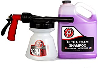 Adam's Foam Gun & Ultra Foam Gallon - Use with Any Car Wash Soap & Garden Hose for Thick Suds - Detailing Tool Does Not Require Pressure Washer & Won't Remove Wax Sealant