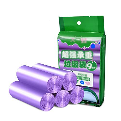 Petit Bin Sac, Sac Poubelle Sacs Poubelle Sac Poubelle Liner Rubbish Super Strong Sacs Poubelle pour Cuisine, Chambre, Bureau,Violet,45x50cm