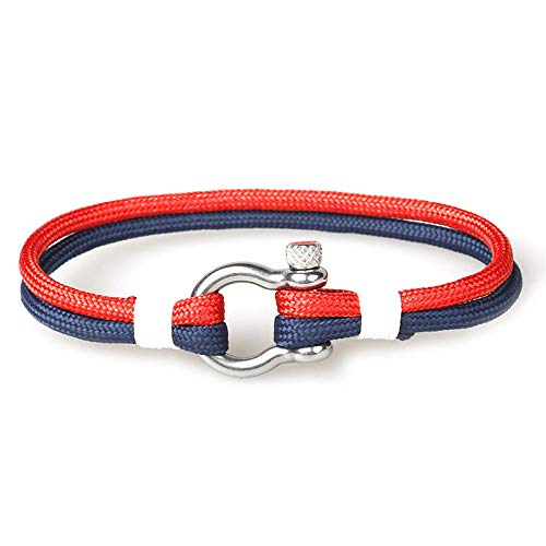 NKSS Mens Bracelets Bracelet Men Braided Rope Stainless Steel Buckles Survival Bracelets For Men Women-11