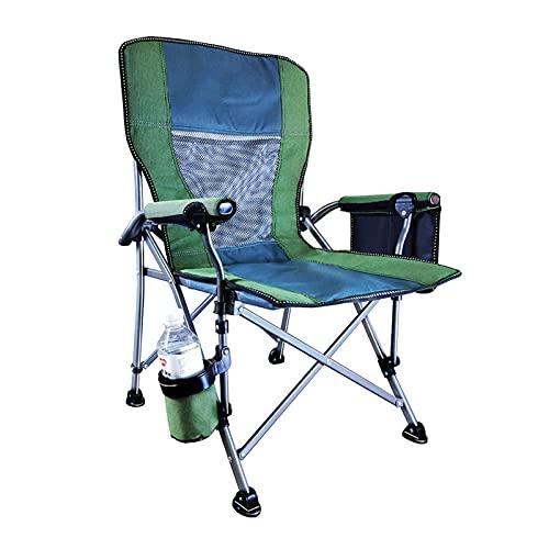 JLJLJL Silla portátil del Director de Camping Plegable, para Playa/Pesca en Hielo/de Exterior/de Viaje/Picnic/Concierto, Sillas de Campamento Plegable con Bolsa d Green