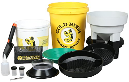 Gold Rush Nugget Bucket - Gold Panning and Prospecting Kit (Yellow)