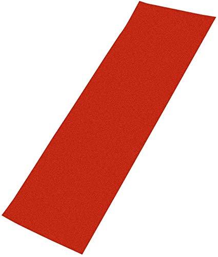 CVERY Cinta de Agarre Antideslizamiento PVC Patinetas sin Burbujas Pegatina Eléctrico Scooter Hoja Perforado Ugh Piezas Cubierta Papel Lija Profesional (Rojo) - Rojo