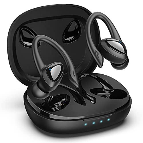 GLANDU Bluetooth Kopfhörer Wireless Earbuds Sports Earphones with Microphone Kabellose Kopfhörer in Ear Waterproof 40H Playtime Jogging, Fitness Noise Reduction Headsets