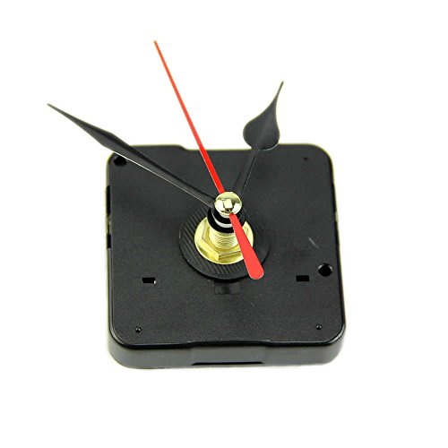 OHTOP Quartz Wall Clock Movement Mechanism Repair Tool Kit with Black & Red Hands
