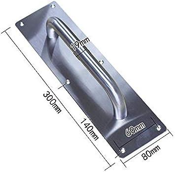 Lheng 2Pcs Small Round Pull Door Handle Plate Durable Lightweight Grip Bar Stainless Steel