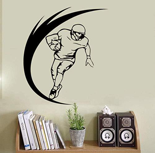 PVC Wandaufkleber Rugby Charakter Vinyl Wandtattoo Wohnkultur Kinderzimmer Junge Zimmer Kunst Wandbild Tapete Abnehmbare Wandaufkleber 58X76CM