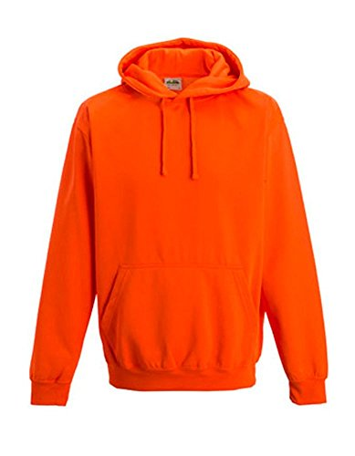 Coole-Fun-T-Shirts Herren Neon Sweatshirt mit Kapuze floureszierend, neonorange, XL, 10811_neonorange_GR.XL