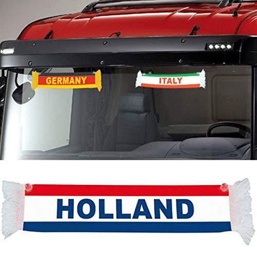 TRUCK DUCK® LKW Auto Holland Niederlande Mini Schal Wimpel Flagge Saugnapf Spiegel Deko 50x9cm